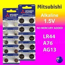 20 x LR44 Mitsubishi New 0%Hg Battery Genuine 1.5V A76/AG13 Alkaline Batteries