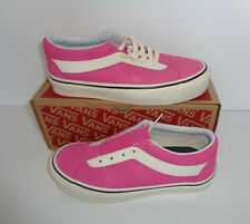 VANS Ladies Trainers Pink Casual Lace Up Suede Womens Skate Shoes New UK Size 3