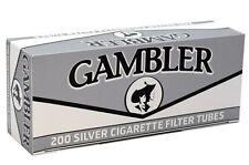 50 (Fifty) Boxes GAMBLER Silver King Size Filter Tubes/200ct per Carton RYO