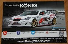 2013 Dennis Mertzanis Konig Wheels Hyundai Genesis SEMA Formula Drift postcard