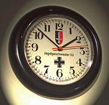 Jagdgeschwader 52 Wall Clock,  WW2 Battle Britain 1940's Style Replica.