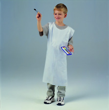"""Creativity Street PAC91240 Youth Disposable Aprons, White, 24"""" x 35"""""""