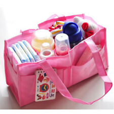 Child Useful Diaper Nappy Storage Outdoor Travel Bag Organizer Liner Pouch White