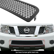 Fits 2009-2020 Nissan Frontier Bumper Stainless Steel Black Mesh Grille Insert