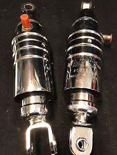 Set of Universal Chrome AIR SHOCKS 330mm AC330 Fits Many H D Honda Cruiser Bikes