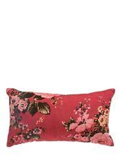 Victorian Trading Co Beau Bouquet Raspberry Pink Velvet Floral Cushion Pillow