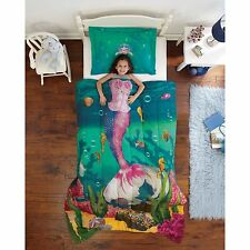 Mermaid Comforter Set for Girl Twin Sea Princess Ocean Sea Bed Bedding Cover