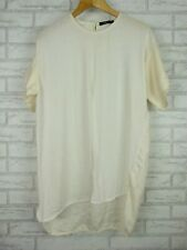 Bassike Top blouse Sz 2 Silk cotton mix Cream