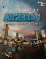 Go Math Algebra Interactive Worktext CA Common Core Textbook HMH Mathematics