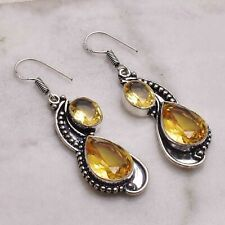 "Citrine  Handmade Drop Dangle Earrings Jewelry 2.04"" AE 55105"