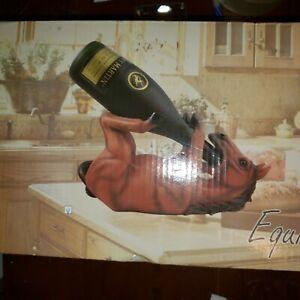Equine Wine  Wine Holder  ( BROWN )