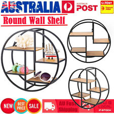 4 Tiers Retro Round Metal Wall Shelving Shelf Display Unit Storage Rack 37.5cm