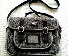 SUPERDRY unisex satchel/cross body bag. Grey marl wool blend. Great style.