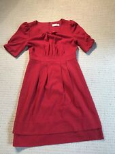 Alannah Hill - Red Capped Sleeve Dress - Size 8