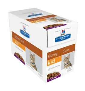 Hill's Prescription Diet K/D Kidney Care with Beef Cat Food - 12 x 85g