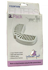 Pioneer Pet Fountain Water Filters 2 Pack **Open Box**