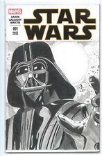 STAR WARS #1(3/15)BLANK VARIANT CVR-w/ORIGINAL DARTH VADER SKTCH(HAN SOLO)CGC IT