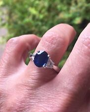 2.55 ct Sapphire and Diamond Ring Platinum TCW 3.33- EGL  Appraisal Included!