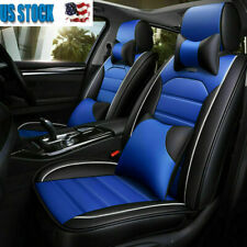 Universal Luxury leather Car Seat Cover Set 5-Seats Full Accessories Interior US