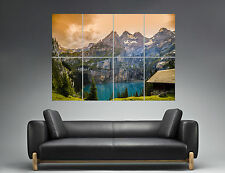 Lagon Nature Landscape Lake Mountain Paradise Wall Art Poster A0 Wide Print