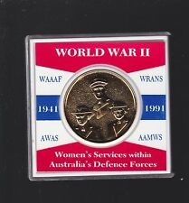 World War 11 Medal 1941 1991 Women Services Australia Defence Force WAAAF Wrans