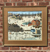 Charles Wysocki Limited Edition Winter Print. Fox Run. Signed. 387/1000. 1979