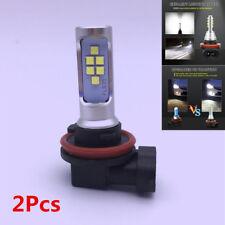 2Pcs H11 H8 LED Flash Strobe Blinking Car Fog Light 6000K White DRL Lamp Bulbs