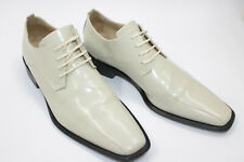 CARLO PIGNATELLI men shoes sz 9 Europe 43 CREAM leather S8051