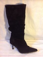 Carvela Black Knee High Suede Boots Size 39