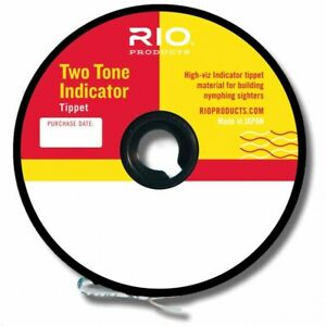 RIO FRESHWATER Nymph style 2-TONE INDICATOR TIPPET Pink & Yellow