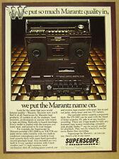 1978 Marantz Superscope CRS-2200 Stereo & CD-330 Cassette Deck vintage print Ad