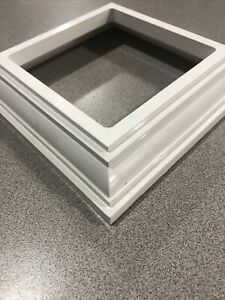 "Veranda 73003582 Base Trim Post Vinyl Railing Deck Fence Balusters White 4"" X 4"""