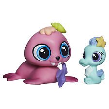 Littlest Pet Shop #3818 Wallace Waterman Morsa & #3819 Sally Seaforth Caballito de mar
