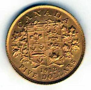 Canada 5 Dolares oro 1912 @ Jorge V  @
