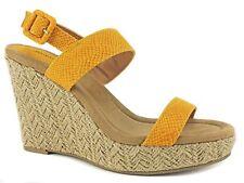 Style&co. Women's Radleyy Platform Espadrille Wedge Sandals Yellow Sz 6.5 M