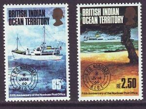 British Indian Ocean Territory B I O T 1974 SC 57-58 MH Set Ship