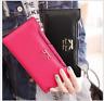 Lady Women's Leather Clutch Handbag Wallet Long Card Holder Phone Bag Case Purse