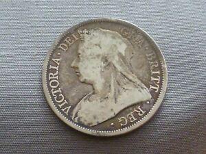 Queen Victoria Sterling Silver 1893 Half Crown