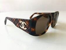 vintage CHANEL sunglasses 01450 brown 0003 unisex 90s Italy no CD Dita Supreme