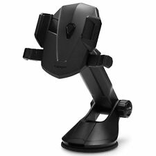 Car Phone Holder Mount Cradle Dock Genuine Spigen Kuel Ap12t for Iphone/ Galaxy Black