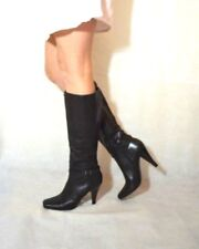 Ladies Black Elegant Knee High Boots Real Leather Next Size 6.5