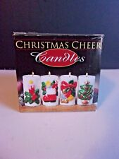 Vintage Set Of 4 Christmas Candles New In Box