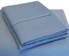 (2) Luxor Style Bamboo Pillowcases 300 TC ~ King ~ Medium Blue NEW