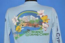 5277a899 vintage 80s HYATT REGENCY CYPRESS RAINBOW FLAMINGO HIBISCUS FLOWER LS t-shirt  S