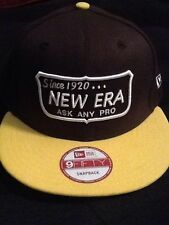 "New Era 9Fifty ""Since 1920..."" Snapback Hat Brown New"
