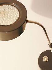 BELLE LAMPE DE BUREAU GRISE TOLE PERFOREE 1950 VINTAGE 50's ROCKABILLY DESK LAMP