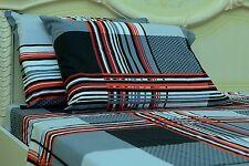 Goza Cotton 190 Gram Heavyweight Flannel Sheet Set - Queen - Grey Plaid