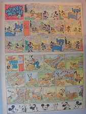 Mickey Mouse Sunday Page by Walt Disney from 8/18/1940 Tabloid Page Size