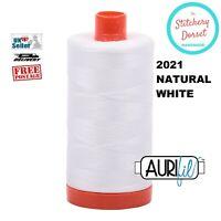 Aurifil 50wt, 2021 Natural White, 100% Cotton Thread. Egyptian Cotton. 1300M