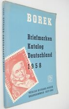Borek Briefmarken Katalog Deutschland 1958 German Stamp Catalog
